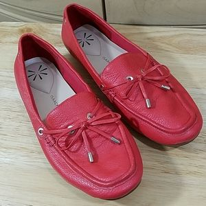 Isaac Mizrahi Red Loafers, sz 8M